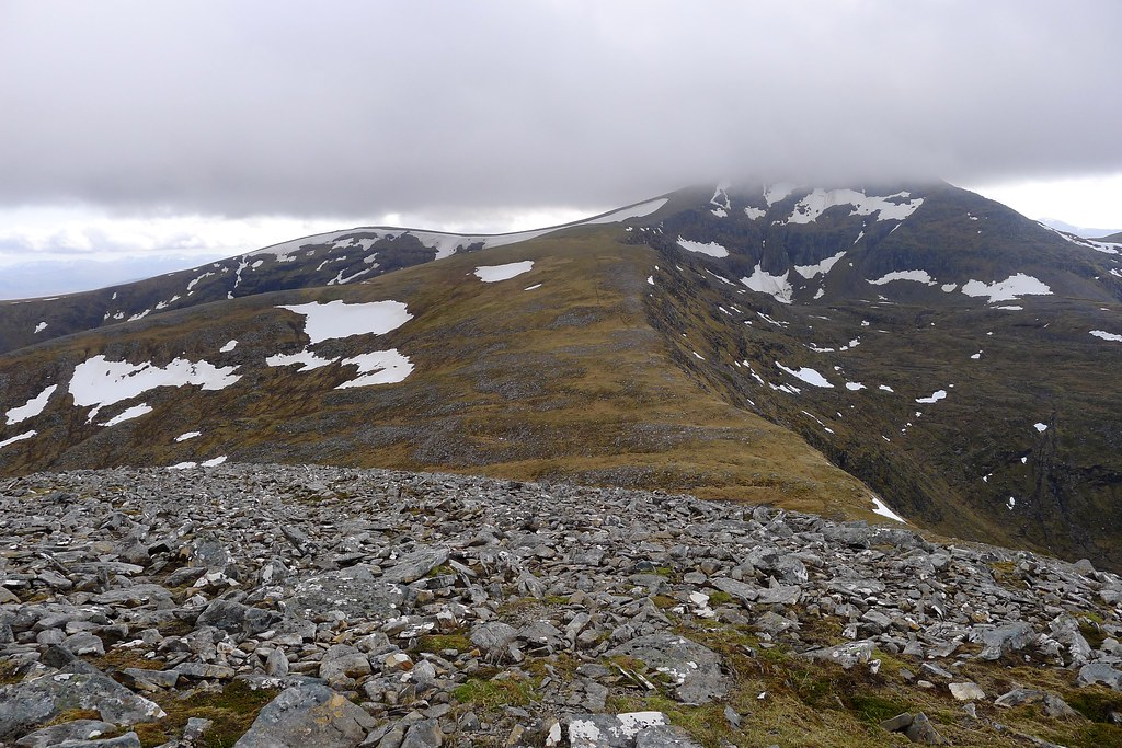 Looking back to Sgurr Mor