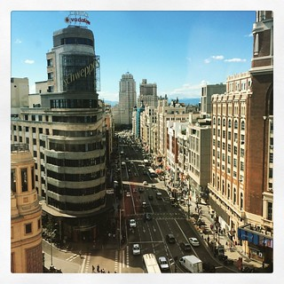 On top of the world (o de la Gran Vía, para ser más exactos) #madrid #granvia #callao #landscape #photooftheday #picoftheday #iphoneonly | by Ruymán J.R.