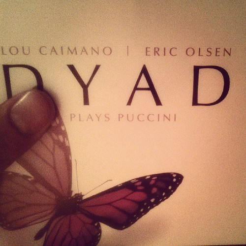 What am I listening to? The duo DYAD. DYAD Plays Puccini. Classical compositions done as contemporary jazz arrangements. Grace. Style. Virtuosity. Originality. | by thepaulleslie