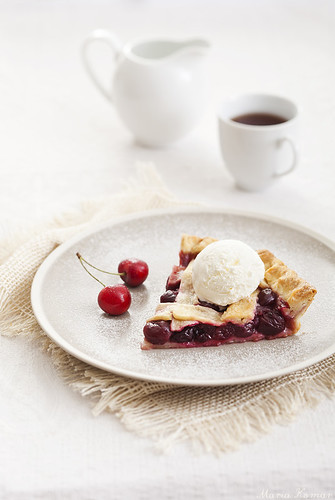 Cherry pie with lattice crust | by Maria Komar