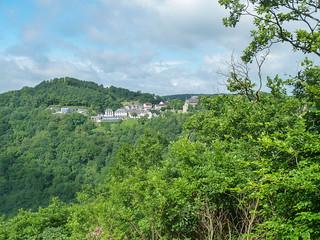 Ausblick vom Felsengarten auf Schloss Dhaun