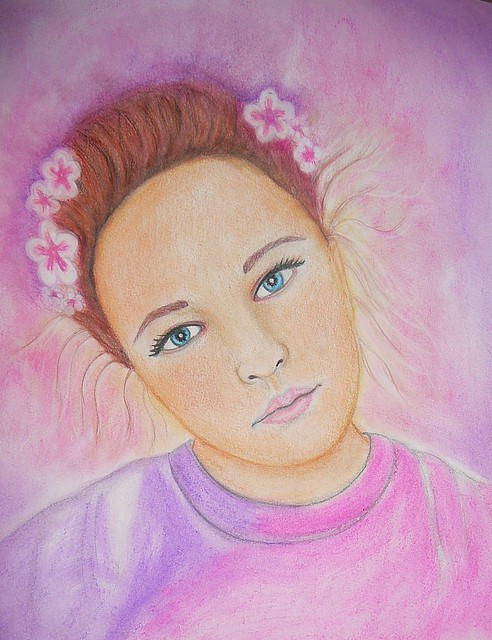 watercolor of a friend's daughter