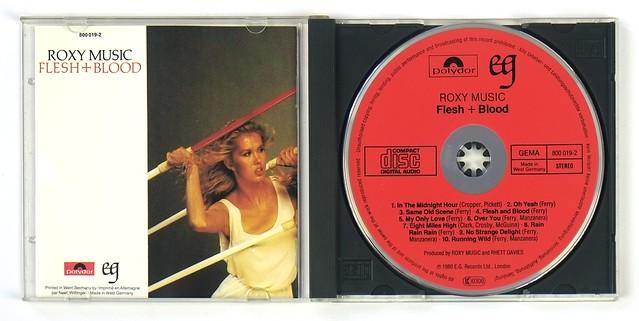 ROXY MUSIC – Flesh + Blood RED FACE FIRST CD VERSION AUDIO CD Album