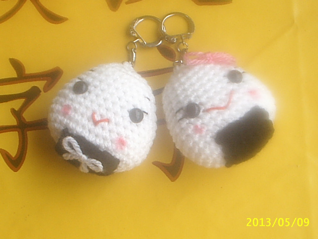Crochet Onigiri by swallowtt on DeviantArt | 768x1024