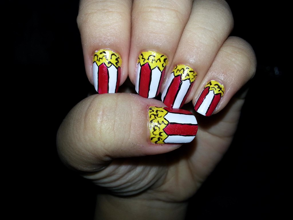 Nail Art Design Popcorn Katikuykuy Flickr