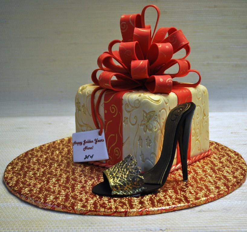 Present Box High Heel Shoe Birthday Cake The Cake Zone Flickr
