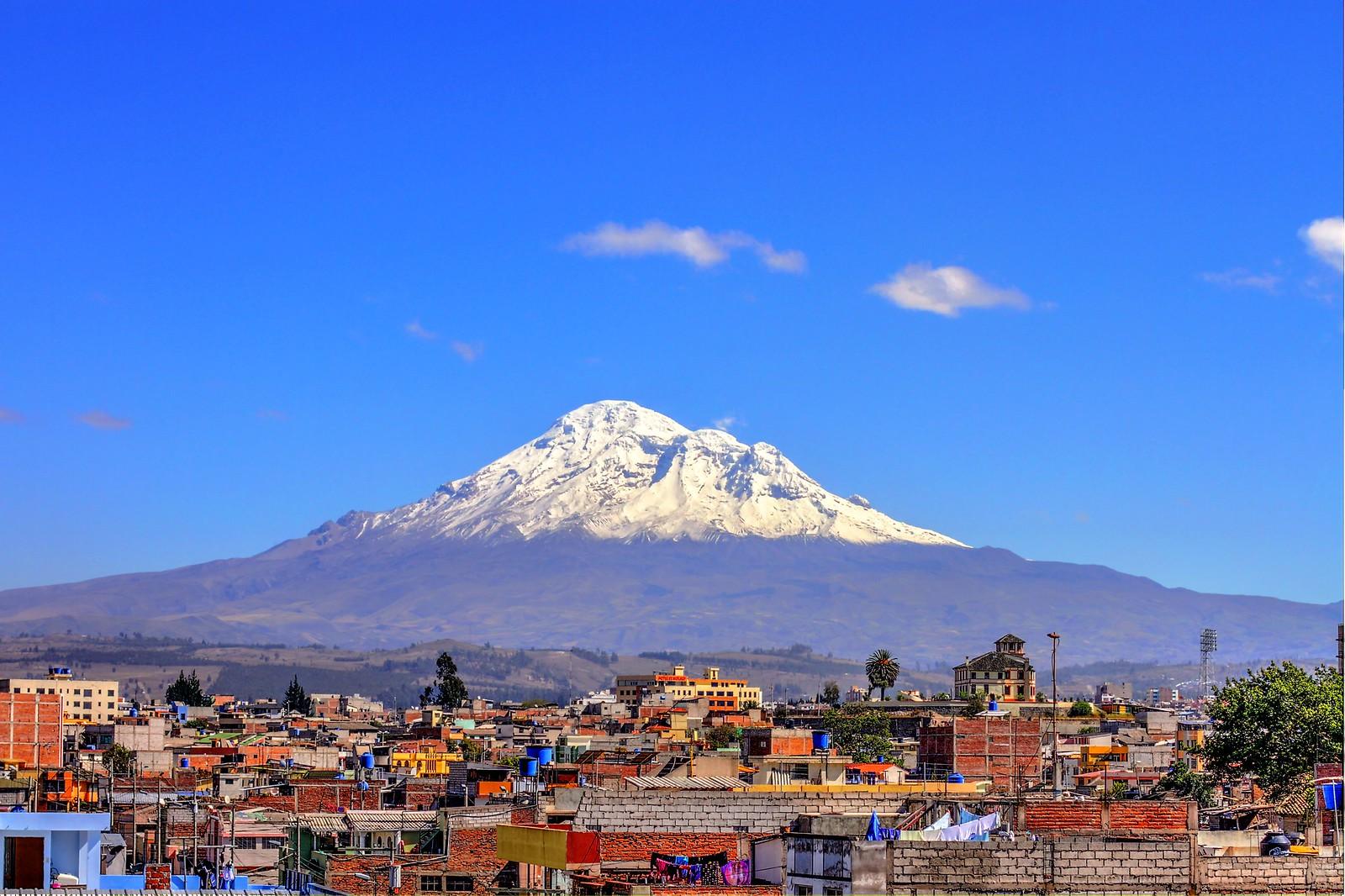 najwyższa góra świata. Chimborazo