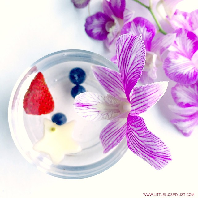 Red white and blue water aka Fourth of July Water with orchids on side by little luxury list.jpg