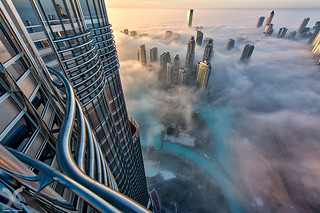 Glass metal fog shot from the 76th floor of burj khalifa flickr for Burj khalifa swimming pool 76th floor