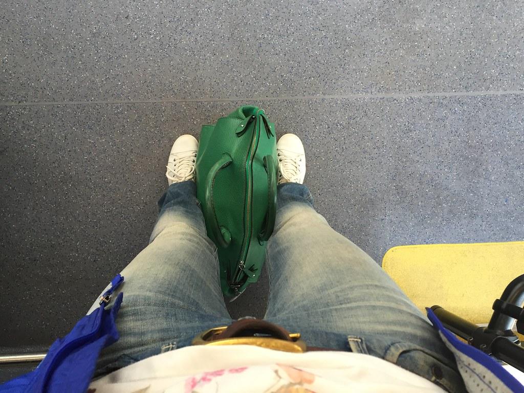 Gröna väskan på resa