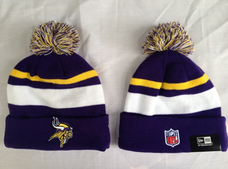 ... atlantafalconssnapbackzumiez Minnesota Vikings Knit Caps Beanie New Era  Hat Pom BCA CRUCIAL CATCH  c723f46a4db