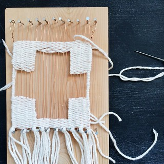 Nap time diaries. #wirewarp #weaving | by Smile And Wave