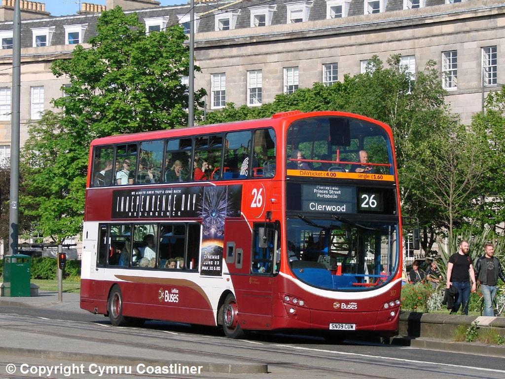lothian buses 317 - sn09 cuw | lothian buses volvo b9tl / wr… | flickr