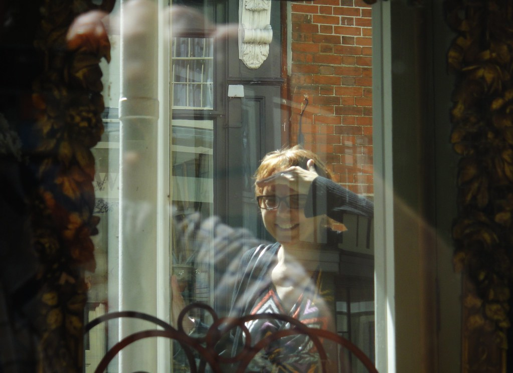 Faversham Antique Shop - May 2013 - The Wife - Reflection in a Shop Window