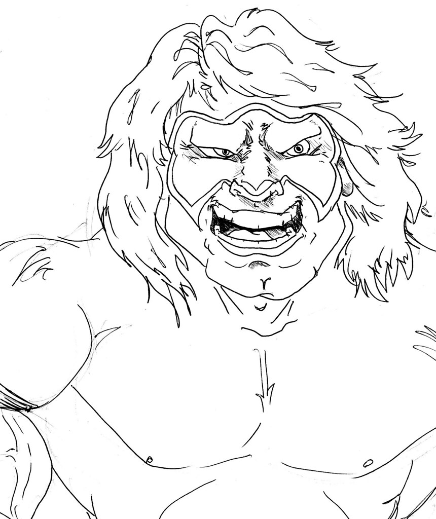 Ultimate Warrior Pages Coloring Pages