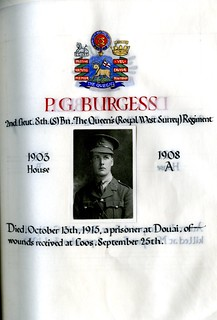 Burgess, Philip Gulson (1891-1915) | by sherborneschoolarchives