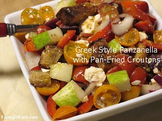 Greek Style Panzanella Salad | by Farmgirl Susan