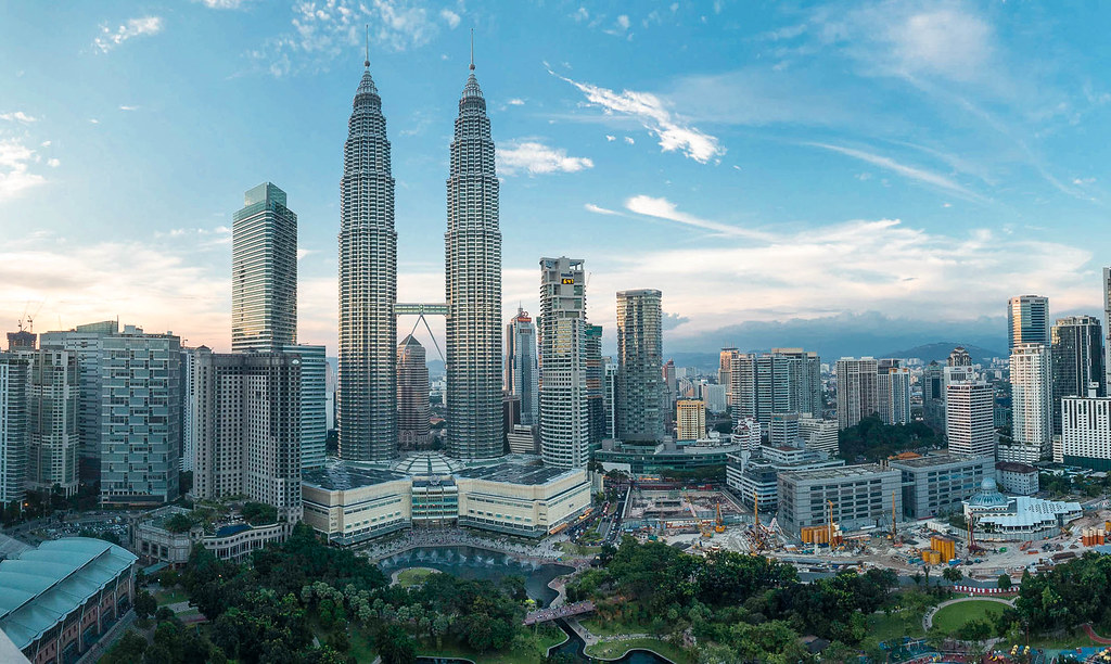 Petronas Towers Sunset Panorama