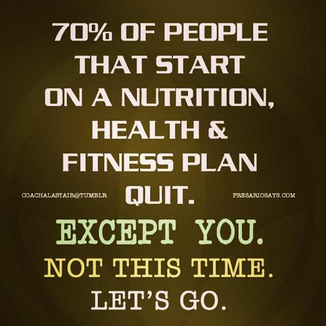 Bon ... 70% Of People That Start On A Nutrition, Health, U0026 Fitness Plan Quit