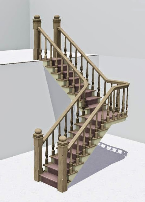 ... L Shaped Stairs   By SimsVIP