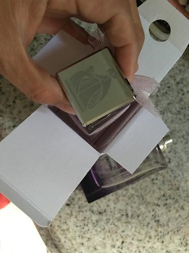 new bottle of perfume