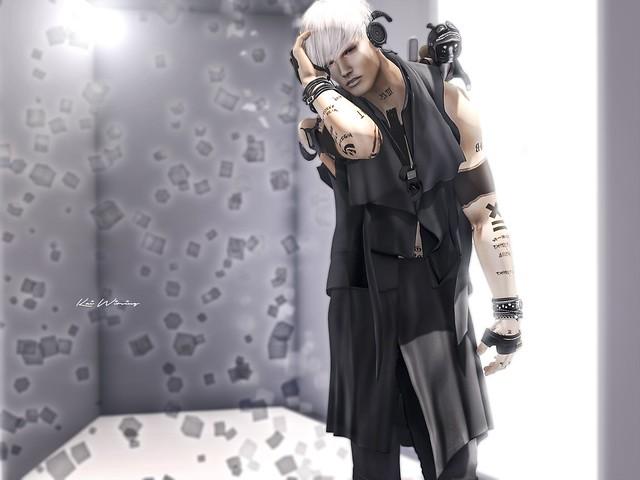 ::GB::Drape vest (TMP) Black @TMD
