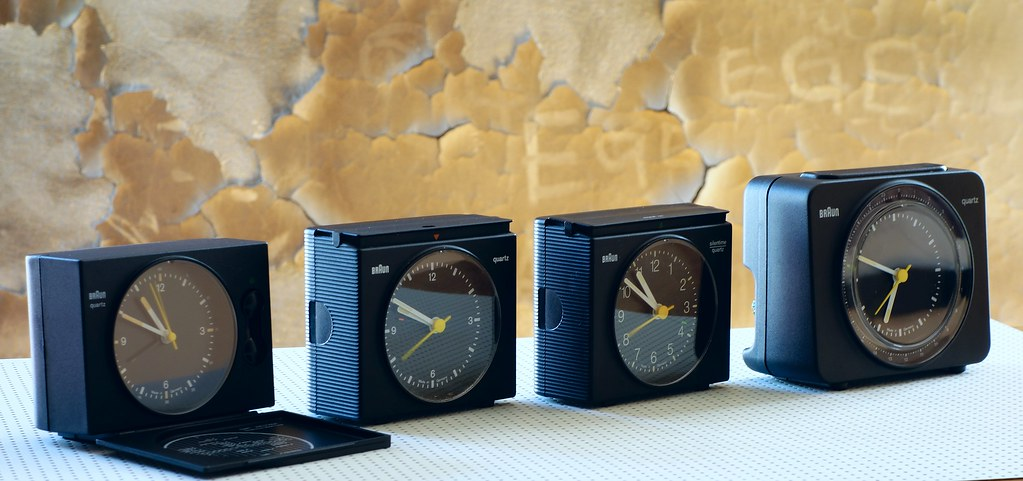 Braun Clocks AB 20 Exact Quartz TravelAB 21 S Signal QuartzAB