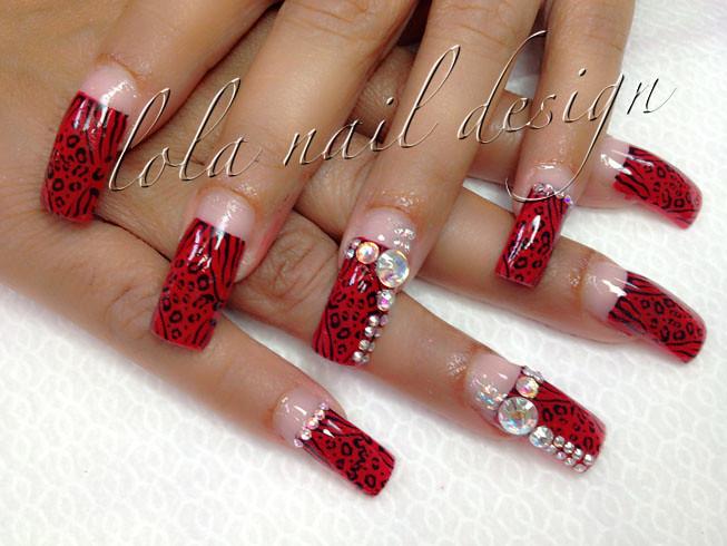 Long red nail design | Anna Nails | Flickr