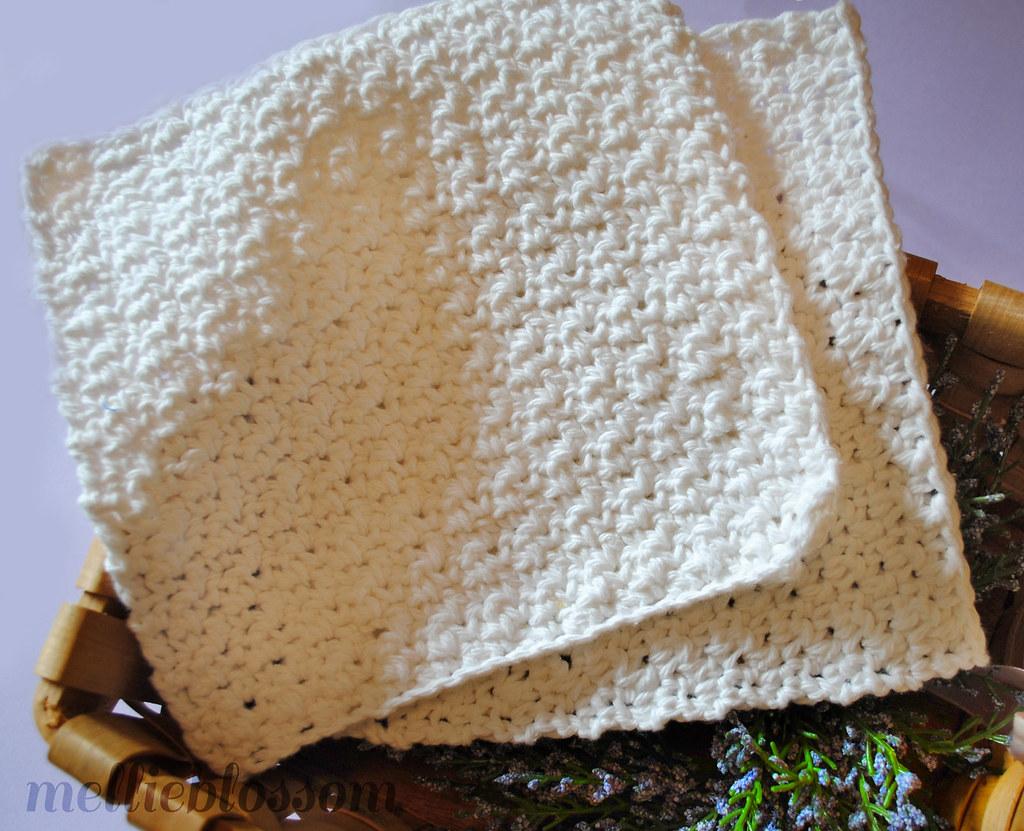 Free Easy Crochet Dishcloth Pattern 2 Blogged Melli Flickr