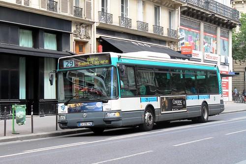 ratp paris bus 7953 29 porte de montempoivre to gare st flickr. Black Bedroom Furniture Sets. Home Design Ideas