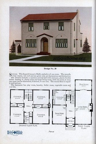 Practical Homes 1926 By Bilt Well Architect Jens