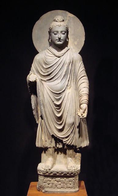 Standing Buddha, Gandhara, 1st–2nd century. From gandharan.blogspot.hk