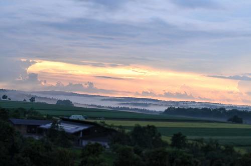 sonnenuntergang mit nebel und - photo #49