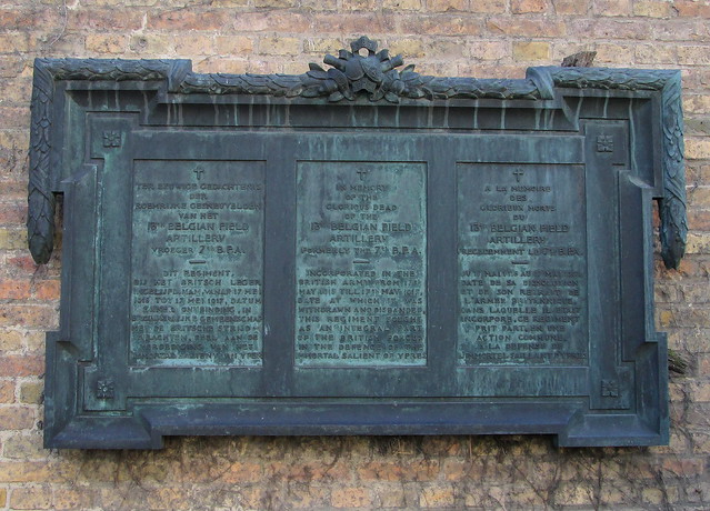 Ypres War Memorial Separate Plaque