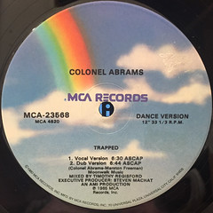 COLONEL ABRAMS:TRAPPED(LABEL SIDE-B)