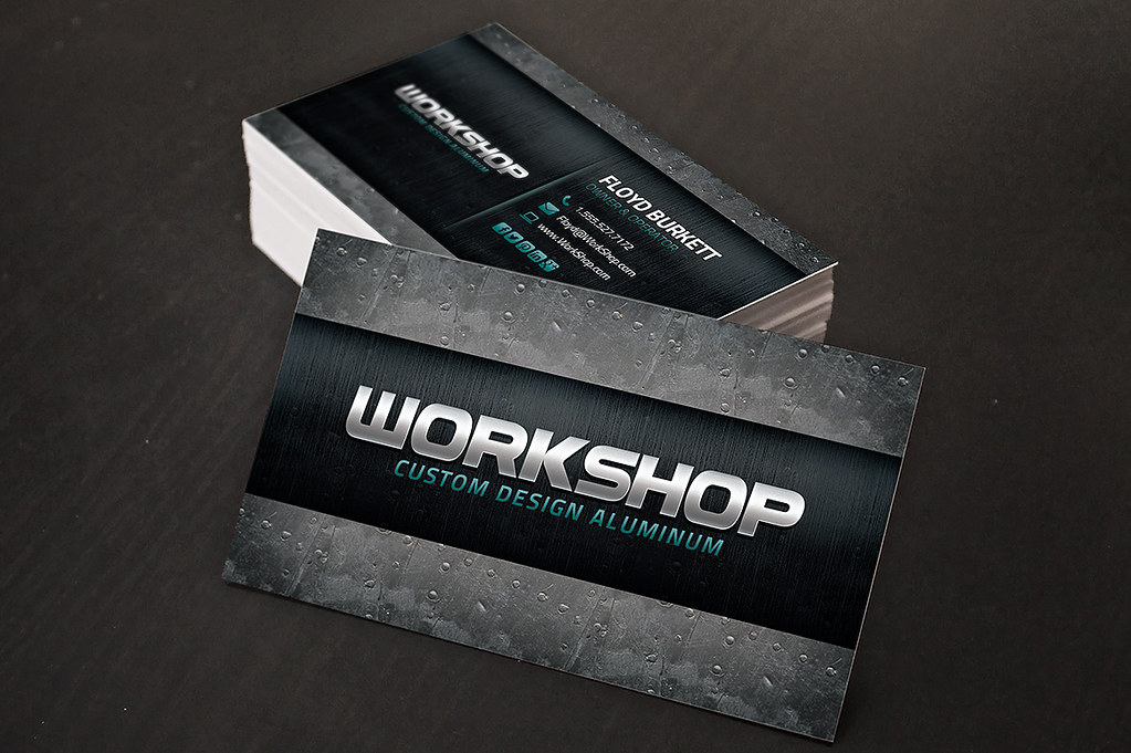 Metal shop Business Cards | Metal shop business card templat… | Flickr