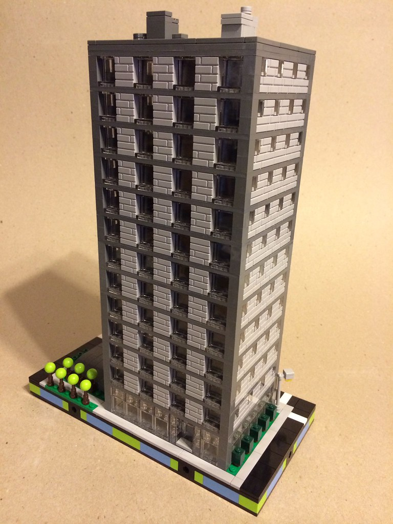 lego office building. Micro Lego Office Building W. Underground Parking | By DEMŌ