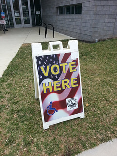 vote here - Anacostia library - 2014-04-01 | by Tim Evanson