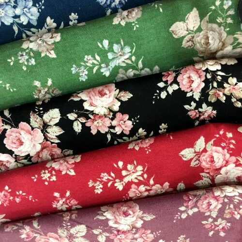 大玫瑰花 優美薔薇花卉 手工藝DIy拼布布料 CA1600009