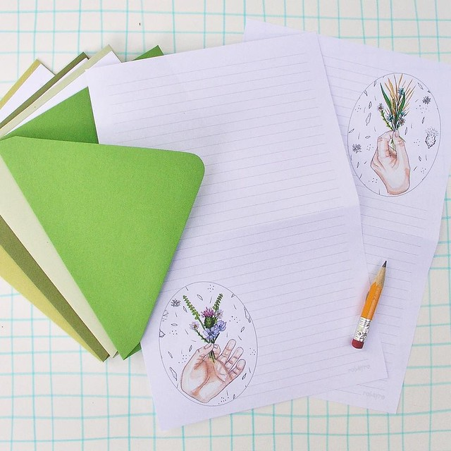 Day 65/100 #robayre100days added this #tinyposie stationery paper set to my shop #the100dayproject