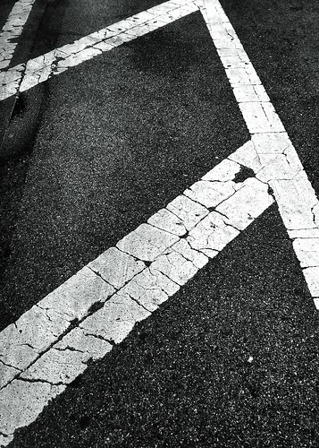 White lines #walkingtoworktoday | by Michael Surtees