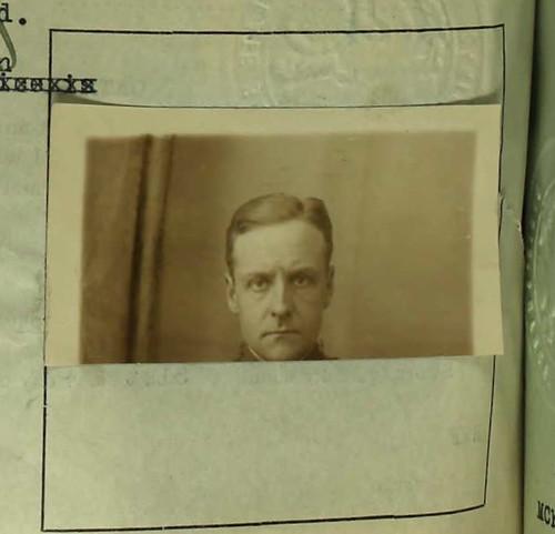 Porter Charlton 1919 Passport Photo Of Porter Charlton