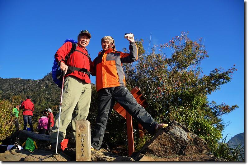 北大武山登山步道3.8K光明頂與德發兄合影