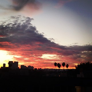 Always love my view #LA #sunset | by KizzieFK