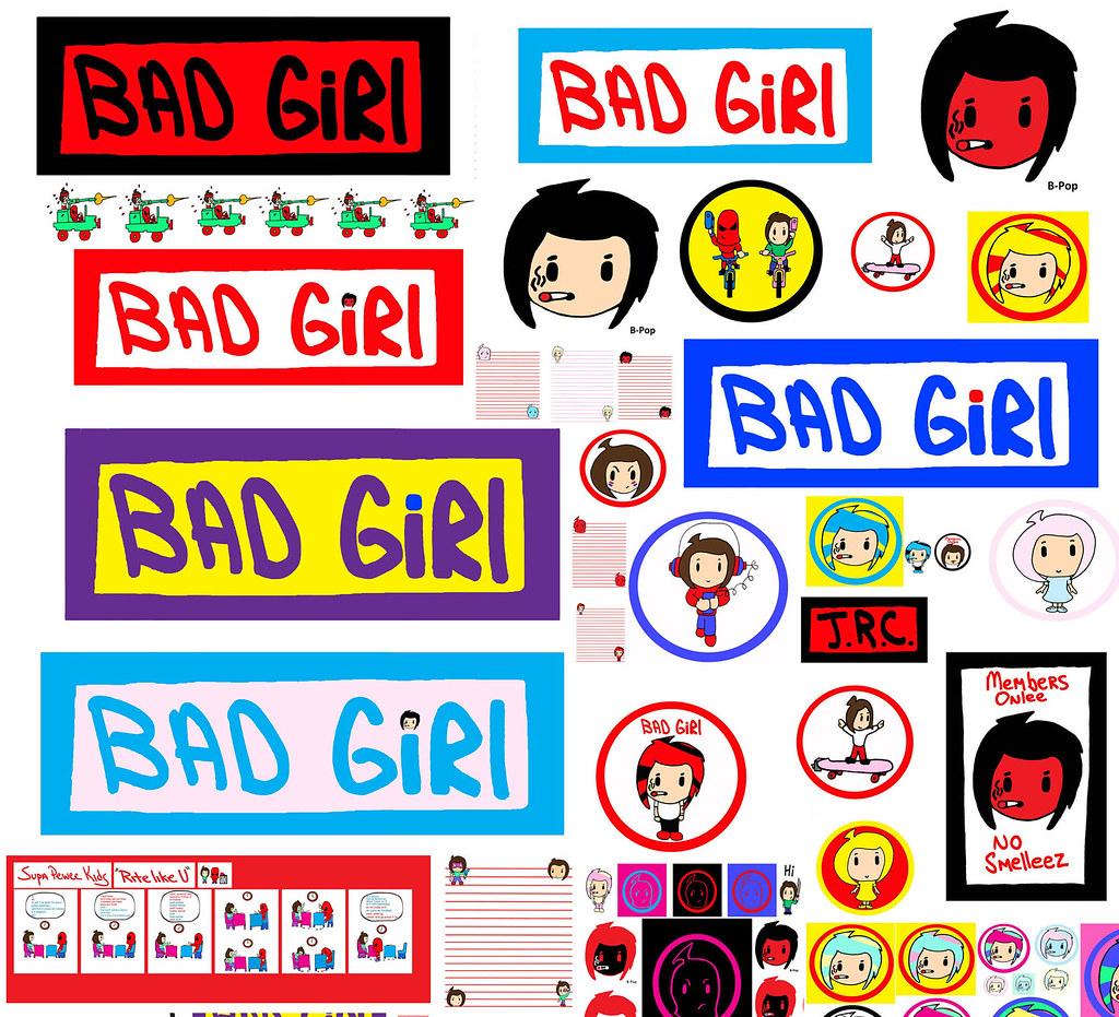 Bad Girl Banner Poster Dorm Room Door Sign Logo Anime SD Japan Cool Kid B