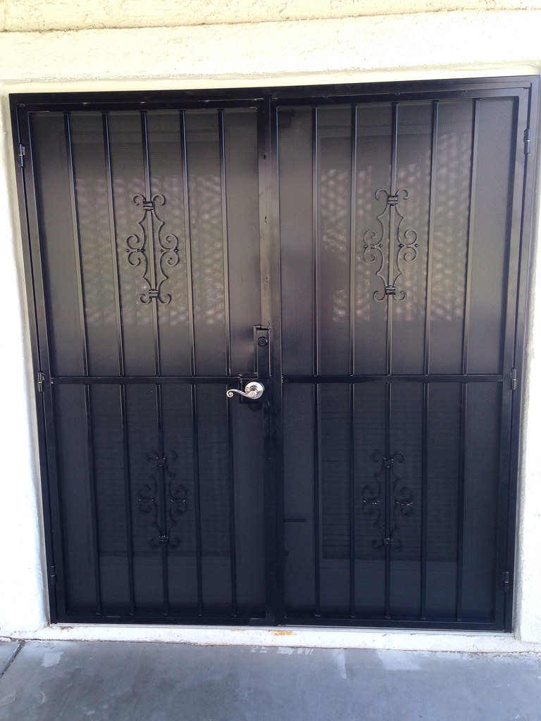 Custom French Security Screen Doors Powder Coated As A St Flickr