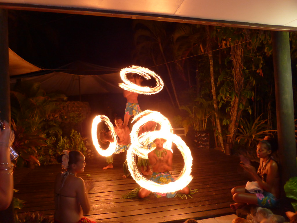 Fijian fire dancers