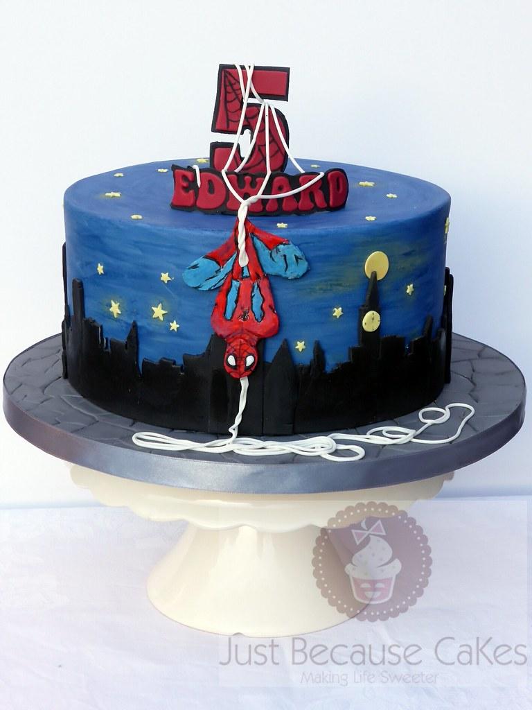 Spiderman Cake For Boy S 5th Birthday Superhero Birthday Flickr