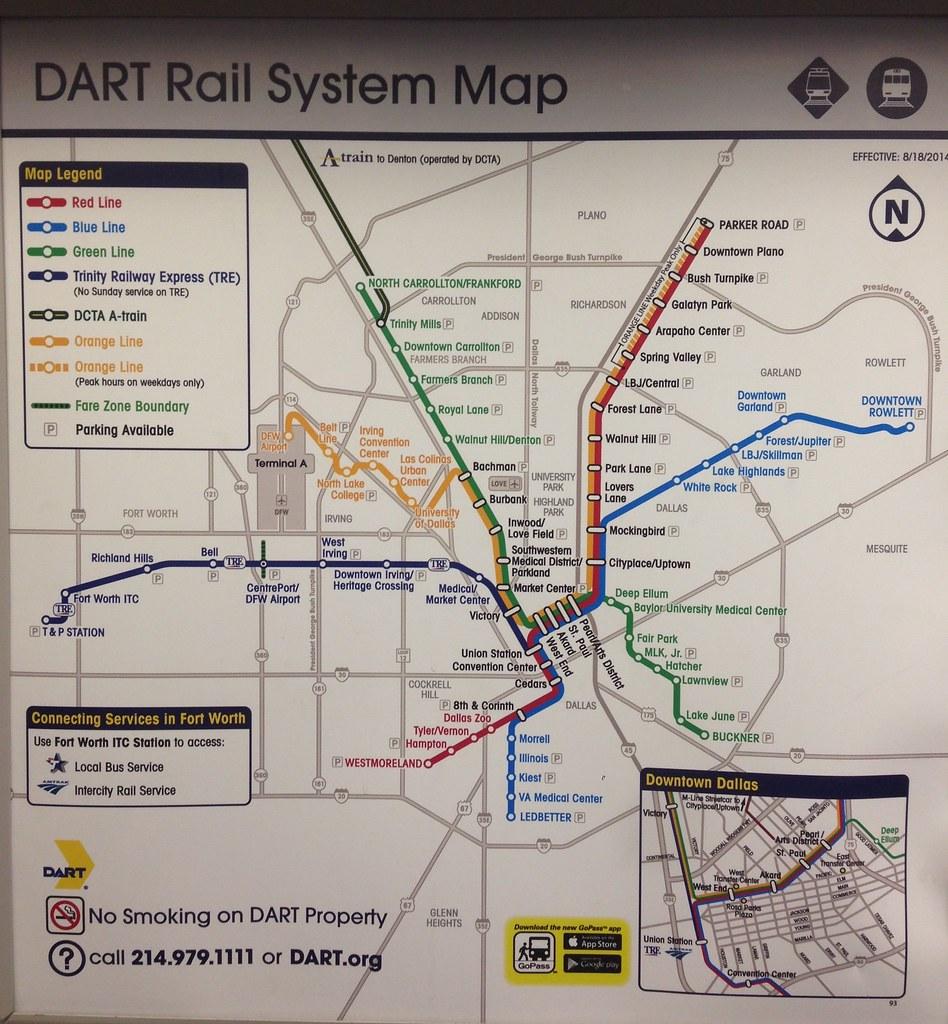 Dallas Dart Rail Map 2 15 An Updated Dallas Area Rapid T Flickr