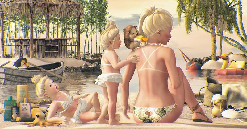 Amelie et les petites: Sunburn